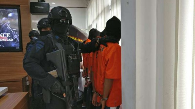Terduka teroris ditangkap Densus 88 Antiteror Polri beberapa waktu lalu.