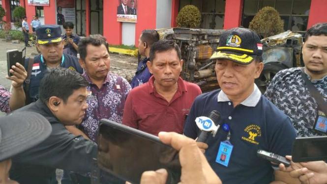 Kepala Kantor Wilayah Kementerian Hukum dan HAM Sumatera Utara Dewa Puti Gede di Langkat, Jumat, 17 Mei 2019.