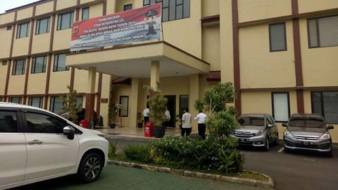 Kantor Kepolisian Resor Kota (Polresta) Bogor Kota.