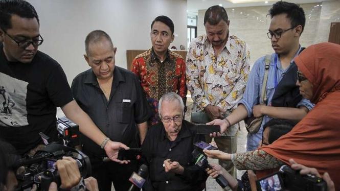 Politisi Partai Gerindra Permadi usai menjalani pemeriksaan di Bareskrim Polri