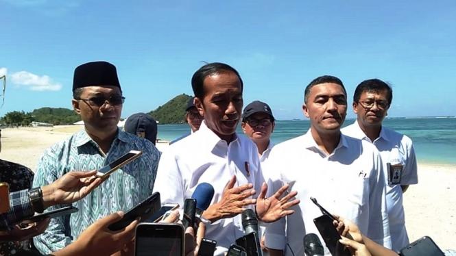 Presiden Jokowi di Kawasan Ekonomi Khusus (KEK) Mandalika