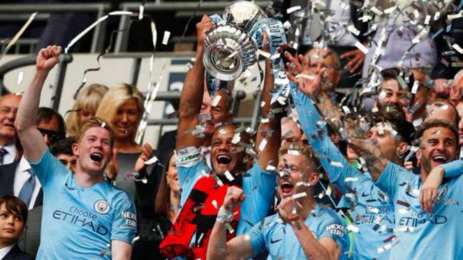 Manchester City juara Piala FA 2018/19.