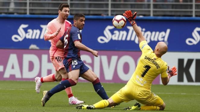 Megabintang Barcelona, Lionel Messi saat lawan Eibar di LaLiga
