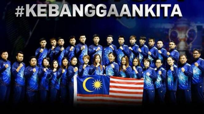 Tim bulutangkis Malaysia di Sudirman Cup 2019.