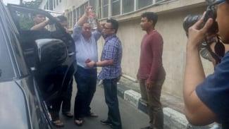 Aktivis Lieus Sungkharisma diamankan polisi, Senin, 20 Mei 2019.