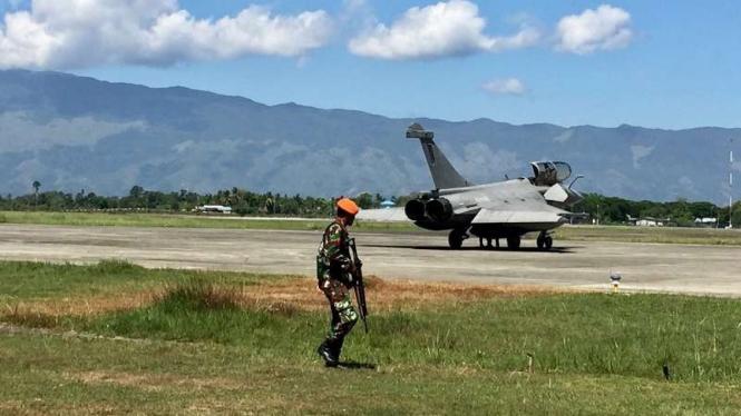 Pesawat tempur Prancis yang mendarat di Aceh sudah bertolak ke Kapal Induk