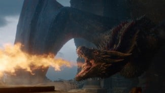 Drogon membakar Iron Throne di final episode.s