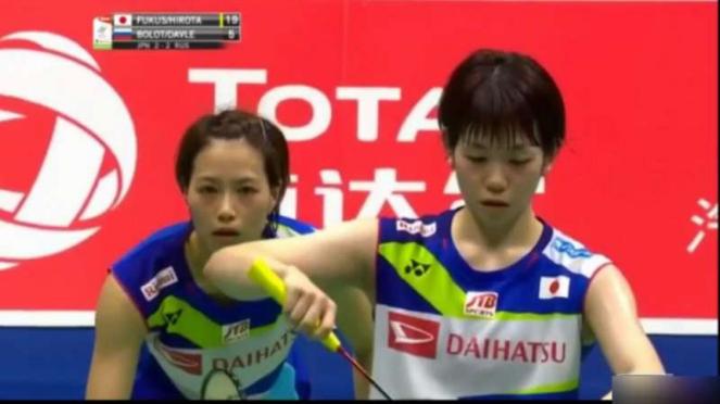 Yuki Fukushima/ Sayaka Hirota di Sudirman Cup 2019.