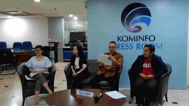 Konferensi pers Program 1000 Startup Digital