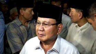 Capres nomor urut 02 Prabowo Subianto di Polda Metro Jaya.