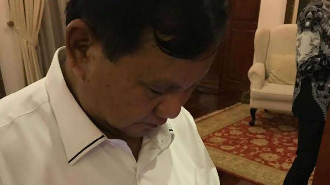 Capres Prabowo Subianto usai mendatangi Pold Metro