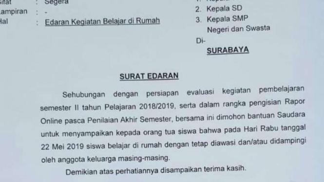 Ada Rencana Aksi 22 Mei Sekolah Di Surabaya Diliburkan Viva