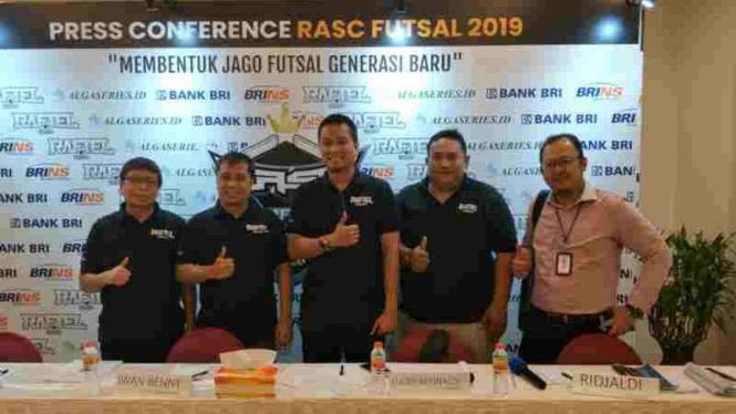Jumpa pers kompetisi futsal usia muda, Raftel Algaseries Championship 2019.