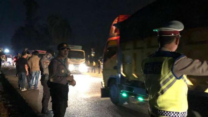 Razia di Jambi terhadap bus dan mobil menuju Jakarta jelang 22 Mei