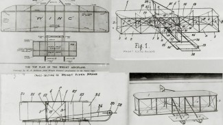 Sketsa mesin terbang Wright bersaudara