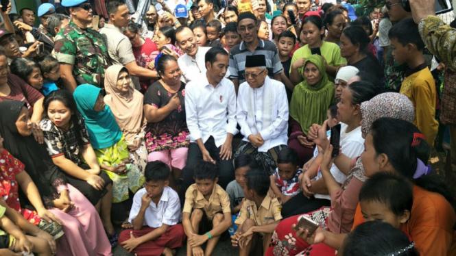 Joko Widodo di Kampung Deret, Jakarta