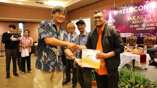 Press Conference Jakarta Fair Kemayoran 2019, Senin (20/5).