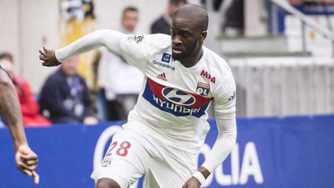 Tanguy Ndombele saat masih membela Lyon