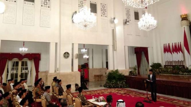 Presiden Joko Widodo memperingati Nuzulul Quran tahun 1440 Hijriyah/2019 Masehi.