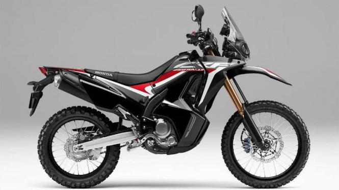 Honda CRF250 Rally warna Extreme Black