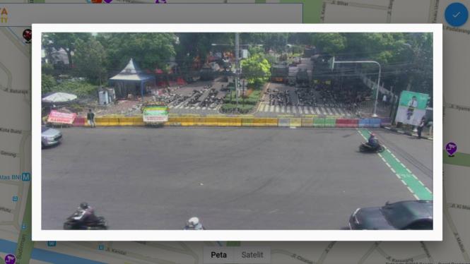Situasi sekitar KPU Pusat di CCTV Dinas Perhubungan DKI Jakarta