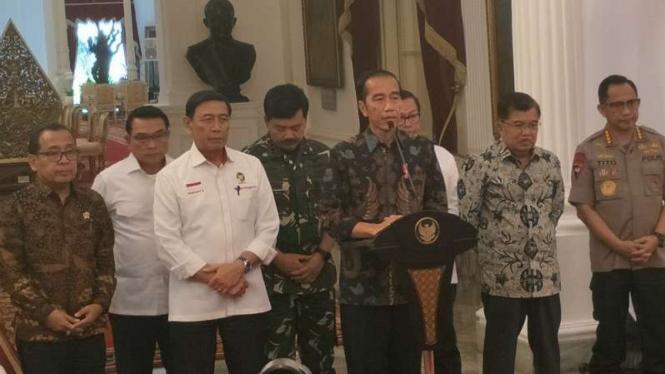Presiden Joko Widodo menggelar konferensi pers terkait aksi 22 Mei