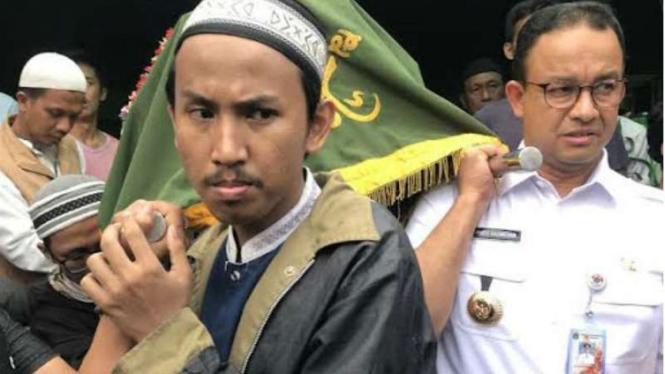 Gubernur DKI Anies Baswedan takziah ke korban kerusuhan Tanah Abang