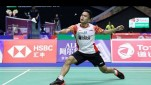 Anthony Sinisuka Ginting di Sudirman Cup 2019.