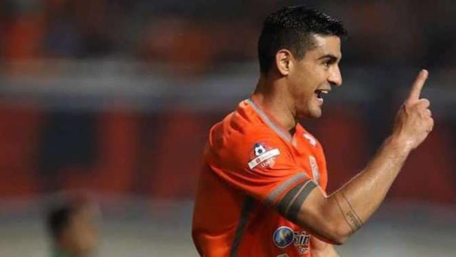 Penyerang Borneo FC, Matias Conti.