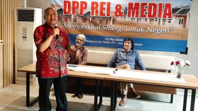 Ketua Umum Realestat Indonesia (REI) Soelaeman Soemawinata.