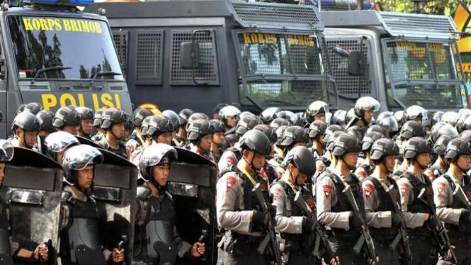 58 Ribu Pasukan TNI Polri Masih Bersiaga di Jakarta