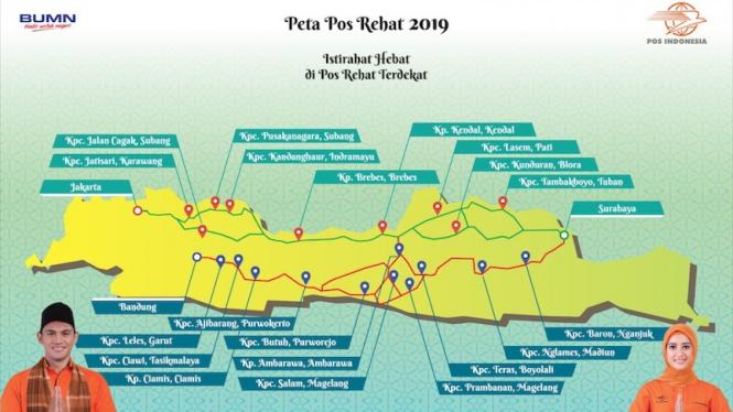 Pos Rehat 2019, Pos Indonesia.