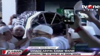 Jenazah ustaz Arifin Ilham tiba di Masjid Az Zikra
