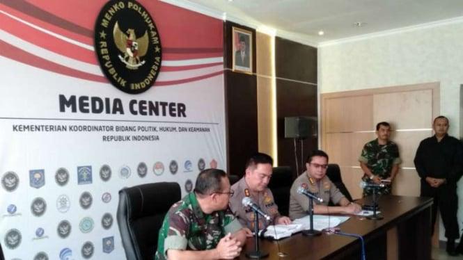 Polri memberi keterangan terkait kerusuhan di Jakarta pada 22 Mei 2019.