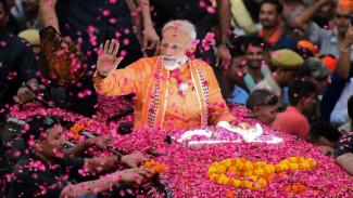 Narendra Modi: merupakan peraih suara utama untuk Partai Bharatiya Janata atau BJP - Getty Images