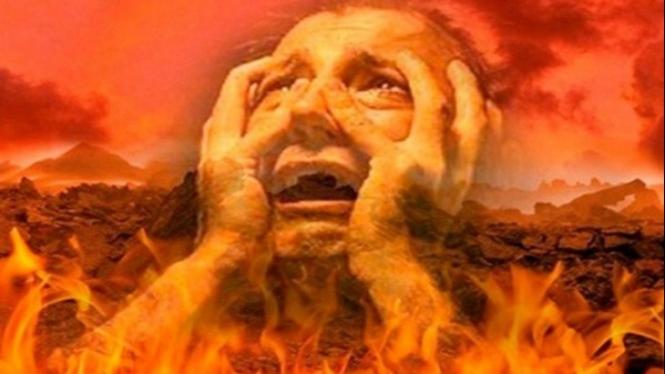 Ilustrasi api neraka.