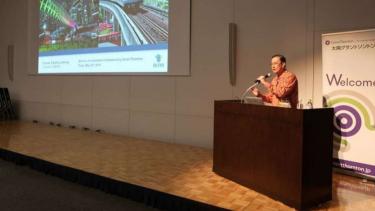 Kepala BPKM Thomas Lembong di Jepang saat paparkan kondisi Investasi Indonesia.