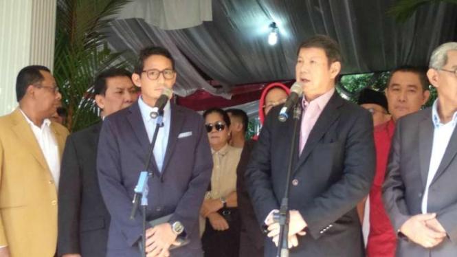 Penanggung Jawab Tim Hukum Gugatan BPN Prabowo-Sandi, Hashim Djojohadikusumo, di kediaman Prabowo, Jalan Kertanegara, Jakarta, Jumat, 24 Mei 2019.