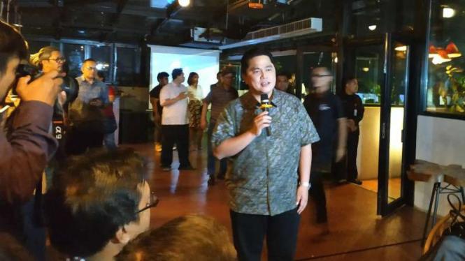 Ketua Tim Kampanye Nasional Jokowi-Ma'ruf Amin, Erick Thohir