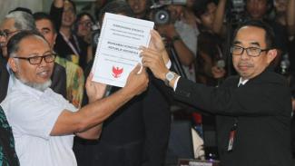 Kuasa Hukum Prabowo-Sandi Datangi MK Ajukan Gugatan Pemilu