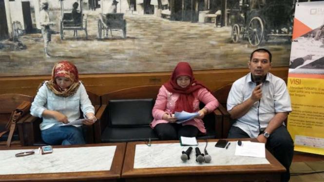Direktur Puskapol UI, Phil Aditya Perdana dalam pemaparan di Cikini, Jakarta.