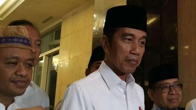 Presiden Joko Widodo usai buka puasa bersama HIPMI.