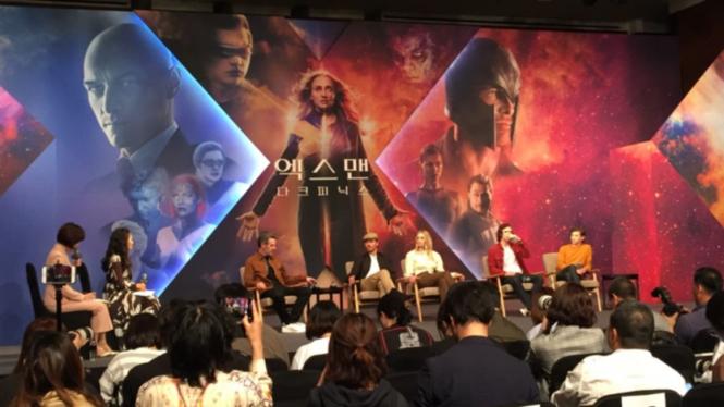 Konferensi pers X-Men: Dark Phoenix di Seoul, Korea Selatan, Senin, 27 Mei 2019