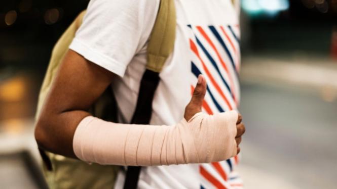 Ilustrasi lengan patah