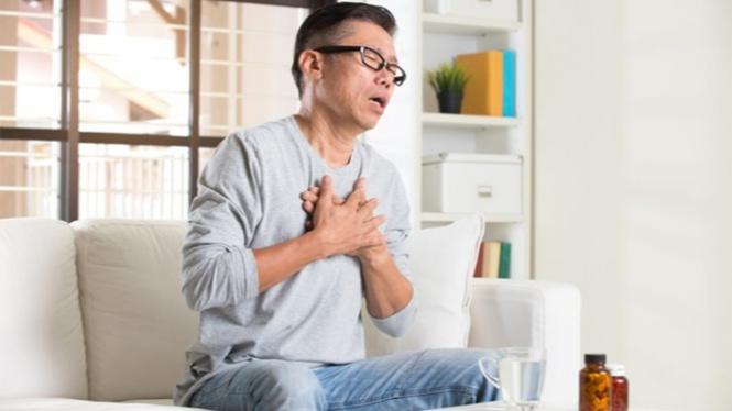 Ilustrasi penderita asma.