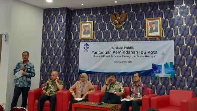 Diskusi LIPI: Tantangan Pemindahan Ibu Kota di Jakarta, Selasa, 28 Mei 2019.