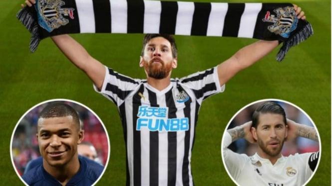 Ilustrasi 3 bintang dunia incaran Newcastle United musim depan