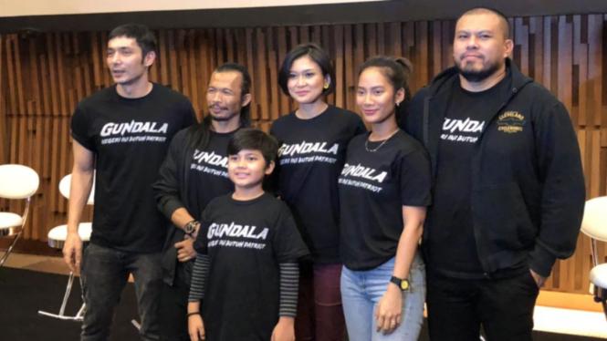 Sutradara dan para pemail film Gundala