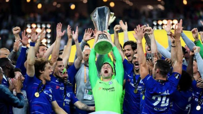 Chelsea juara Liga Europa 2018/19.