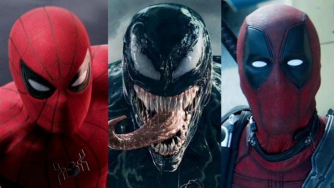 Spider Man, Venom, dan Deadpool